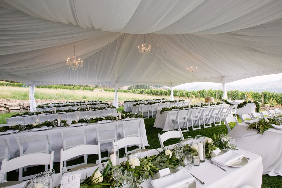 painted rock winery wedding tent www.lucida-photography.com