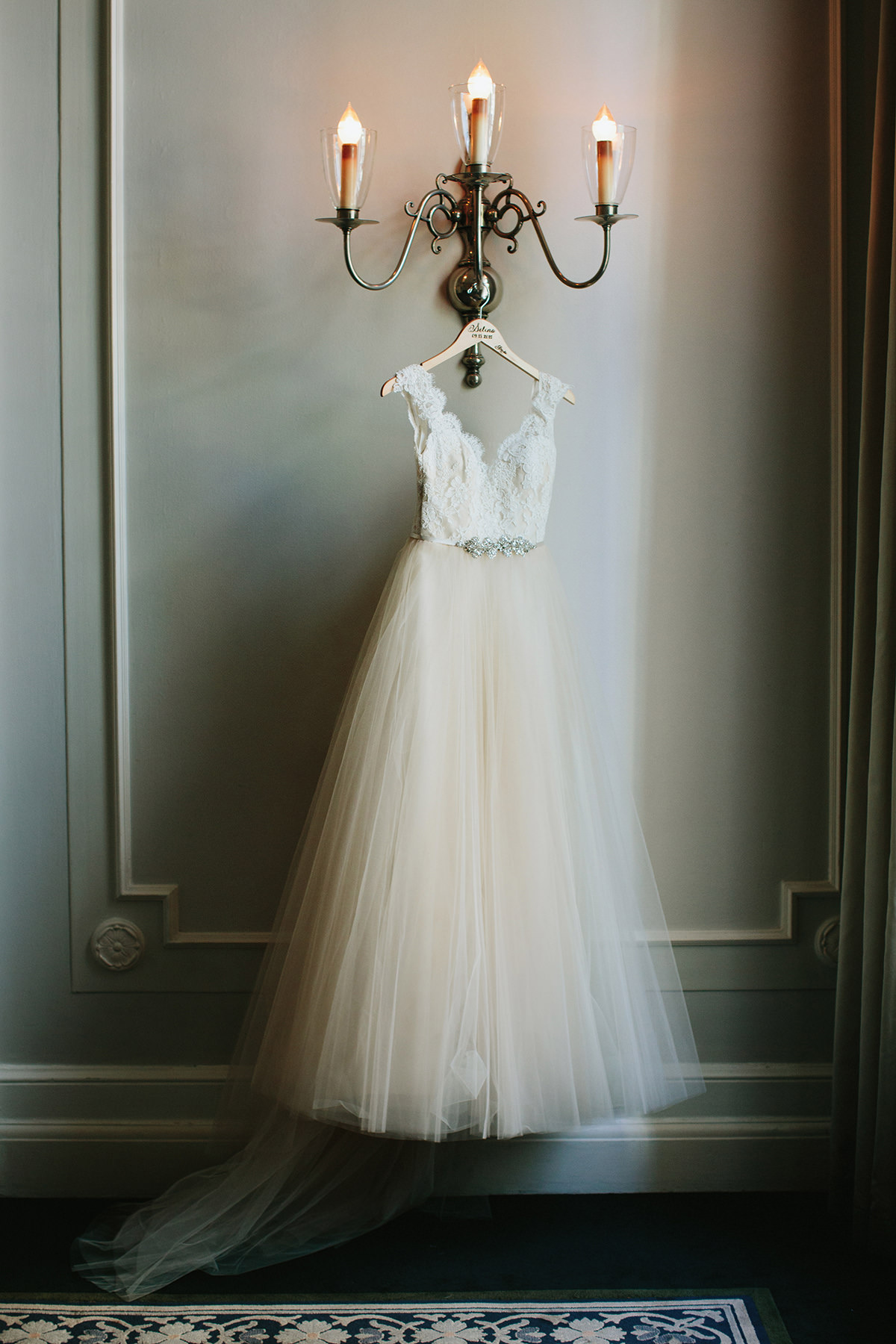 03 Wedding Dress Hanging Georgian Room Vancouver Club Lucida
